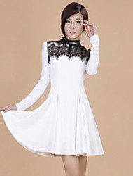 Zhi Yuan Lace Pleats Swing Dress (Flere farver)