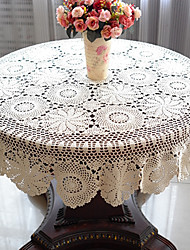 abordables -100% Coton Rond Nappes de table Fleur Décorations de table