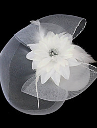 cheap -Gemstone & Crystal / Tulle / Lace Fascinators / Headpiece with Crystal 1 Wedding / Special Occasion / Party / Evening Headpiece
