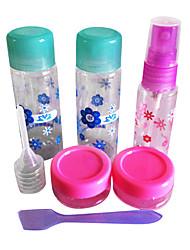 Praktiske Nail Art Rejser Kits (5pcs Mini tomme flasker 1 File)