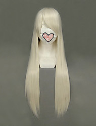 cheap -Cosplay Wigs Chobits Chii Golden Long Anime Cosplay Wigs 80 CM Heat Resistant Fiber Female