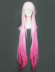 cheap -Cosplay Wigs Guilty Crown Inori Yuzuriha Pink Long Anime Cosplay Wigs 110 CM Heat Resistant Fiber Female