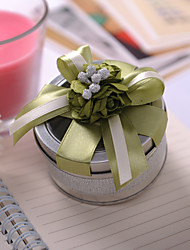 cheap -Cylinder Tins Favor Holder with Ribbons Flower Favor Boxes Favor Tins and Pails - 6