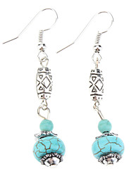 cheap -Women's Drop Earrings Dangle Earrings Earrings Turquoise Bohemian Statement Jewelry Vintage Synthetic Gemstones Turquoise Ball Jewelry For