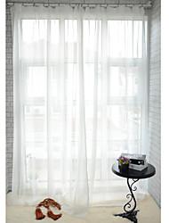 baratos -Dois Painéis Tratamento janela Moderno , Sólido Sala de Jantar Poliéster Material Sheer Curtains Shades Decoração para casa For Janela