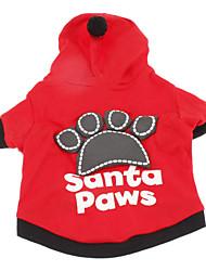 preiswerte -Hund Kapuzenshirts Hundekleidung Atmungsaktiv Buchstabe & Nummer Schwarz Rot Kostüm Für Haustiere