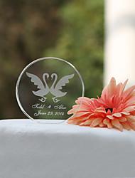 billige -Kagedekorationer Have Tema Klassisk Tema Hjerter Klassisk Par Krystal Bryllup Polterabend med Gaveæske