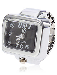 cheap -Unisex Square Style Alloy Analog Quartz Ring Watch (Assorted Colors) Cool Watches Unique Watches