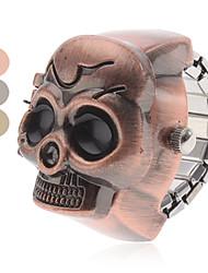 cheap -Women's Wrist watch Ring Watch Fashion Watch Japanese Quartz Hot Sale Band Skull Brown Grey Bronze