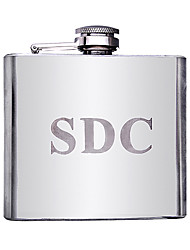 cheap -Personalized Stainless Steel Barware & Flasks Hip Flasks Groom Groomsman Parents Wedding Anniversary Birthday Business