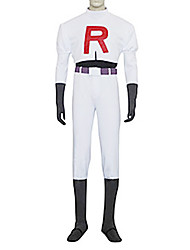 cheap -Inspired by Pocket Little Monster Team Rocket James Video Game Cosplay Costumes Cosplay Suits Solid Colored Long Sleeve Top / Pants / Gloves Halloween Costumes