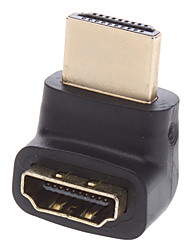 HDMI V1.4 M/F 90-Degree Connector/Extension Joint