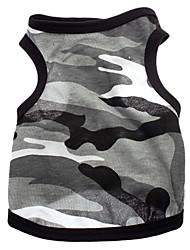 abordables -Perro Camiseta Ropa para Perro Transpirable camuflaje Corazones Gris Disfraz Para mascotas