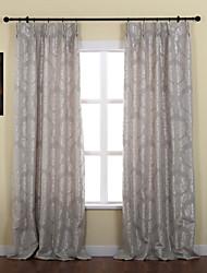 baratos -(Dois painéis) jacquard floral neoclássico cortina térmica