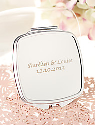 cheap -Personalized Stainless Steel Compact Mirror Favor