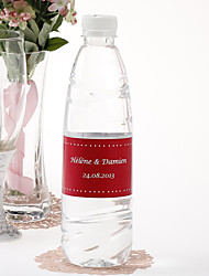 cheap -Personalized Water Bottle Sticker - Pin Dot (Red/Set of 15) Wedding Favors