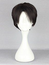 cheap -Cosplay Wigs Attack on Titan Levy Anime Cosplay Wigs 28 CM Heat Resistant Fiber Men's