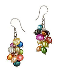 Beautiful Colorful Pearl Womens Earrings