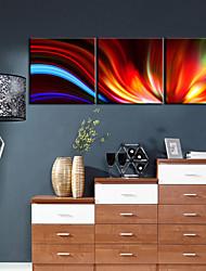 abordables -Juego de Lienzo Abstracto Tres Paneles Horizontal Estampado Decoración de pared Decoración hogareña