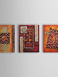 Dipinta a mano Astratto Tre Pannelli Tela Hang-Dipinto ad olio For Decorazioni per la casa