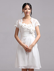 cheap -Short Sleeve Lace Wedding / Party Evening / Casual Wedding  Wraps With Shrugs