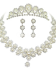 cheap -Women's Others Jewelry Set Earrings / Necklace / Tiaras - Regular Pearl White For Wedding / Party / Special Occasion