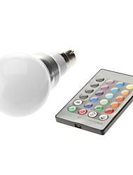 b22 3w haute puissance conduit 300-350lm changement de couleur des ampoules de contrôle à distance ac 85-265 v