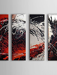cheap -Oil Painting Hand Painted - Abstract Canvas Four Panels