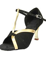 """Scarpe da ballo - Disponibile """"su misura"""" - Donna - Latinoamericano / Sala da ballo - Customized Heel - Suede - Nero"""