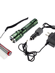 SmallSun 4 Torce LED Lanterne e lampade da tenda LED 350 Lumens 4.0 Modo Cree XR-E Q5 Messa a fuoco regolabile Ricaricabile autodifesa