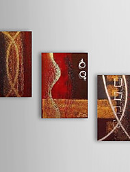 Ručno oslikana Sažetak bilo koji oblik Platno Hang oslikana uljanim bojama Početna Dekoracija Tri plohe