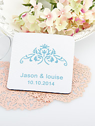 cheap -Personalized  Vintage Floral Wedding Coasters-Set of 4(More Colors)