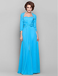 cheap -Sheath / Column Sweetheart Floor-length Chiffon Mother of the Bride dress with Beading Flower by Weishang