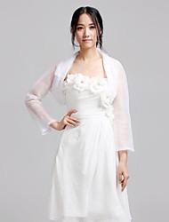 economico -Organza Matrimonio Da sera Casual Wraps Wedding Cappotti / giacche