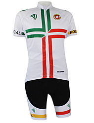 cheap -Kooplus Cycling Jersey with Shorts Men's Women's Unisex Short Sleeves Bike Coverall Clothing Suits Bike Wear Quick Dry Windproof