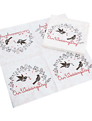 Beverage Napkins - Love Birds (Set of 20) Wedding Reception Beautiful