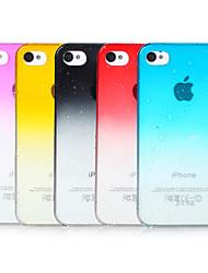 abordables -Gradiente de burbujas de color transparente de nuevo caso para el iPhone 4/4S (colores surtidos)