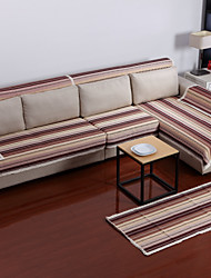 cheap -Cotton Coffee Stripes Sofa Cushion 70*180