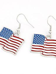 Недорогие -Холодная конструкция сплава американский флаг женские серьги