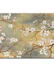 abordables -Reproduction transférée sur toile Art Floral Plum Bloom