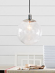Pendant Light ,  Traditional/Classic Globe Chrome Feature for Mini Style Metal Living Room Dining Room