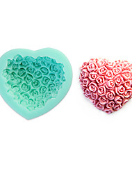 cheap -3D Rose Fondant Cake,Food-grade Silicone,Chocolate Candy Soap Mold