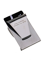 Gift Groomsman Double-faced Stainless Steal Money Clip