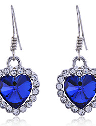 cheap -Drop Earrings Crystal Crystal Alloy Heart Heart Jewelry Daily
