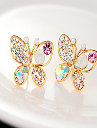 cheap -Women's Stud Earrings Costume Jewelry Pearl Rhinestone Alloy Animal Shape Butterfly Jewelry For Party Daily