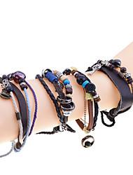 Женский Кожаные браслеты Мода бижутерия Кожа Янтарь Бирюза В форме листа Бижутерия Назначение Повседневные Новогодние подарки