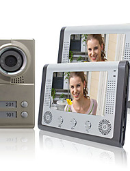 "cheap -Night Vision 7"" Video Door Phone For Neighbours 2 Families Apartments Cheap Set"
