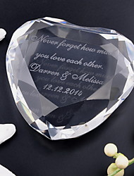 Gifts Bridesmaid Gift Personalized Heart-shaped Crystal Table Display Keepsake