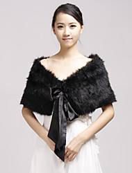 cheap -Faux Fur Party Evening Casual Fur Wraps Wedding  Wraps Shrugs