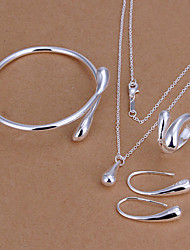 cheap -Women's Jewelry Set Silver Plated Drop Teardrop Basic Fashion Party Birthday Engagement Gift Daily Rings Earrings Necklaces Bracelets &